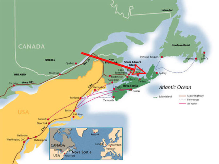 Canadian Land For Sale In Ontario Nova Scotia And New Brunswick: Map Of Eastern Canada And Nova Scotia At Infoasik.co