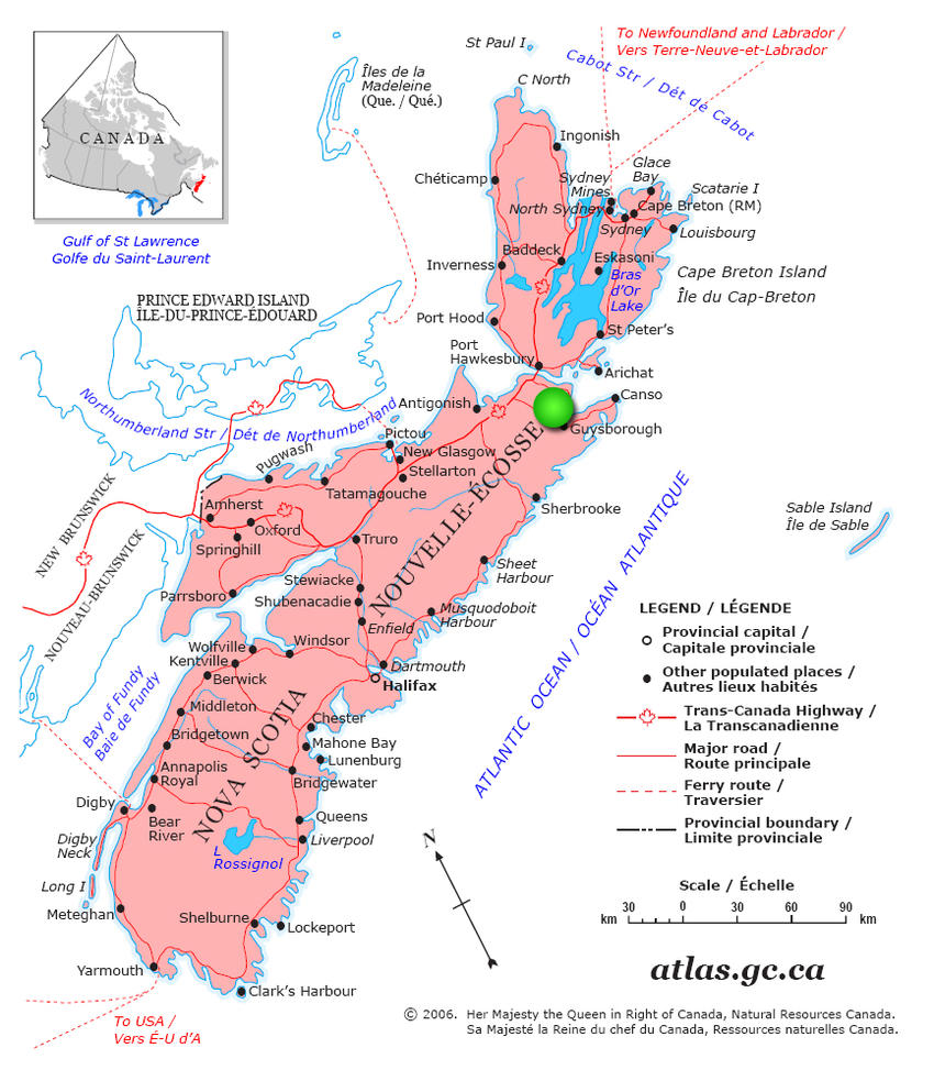 Canadian Land For Sale In Ontario Nova Scotia And New Brunswick - Map of nova scotia canada