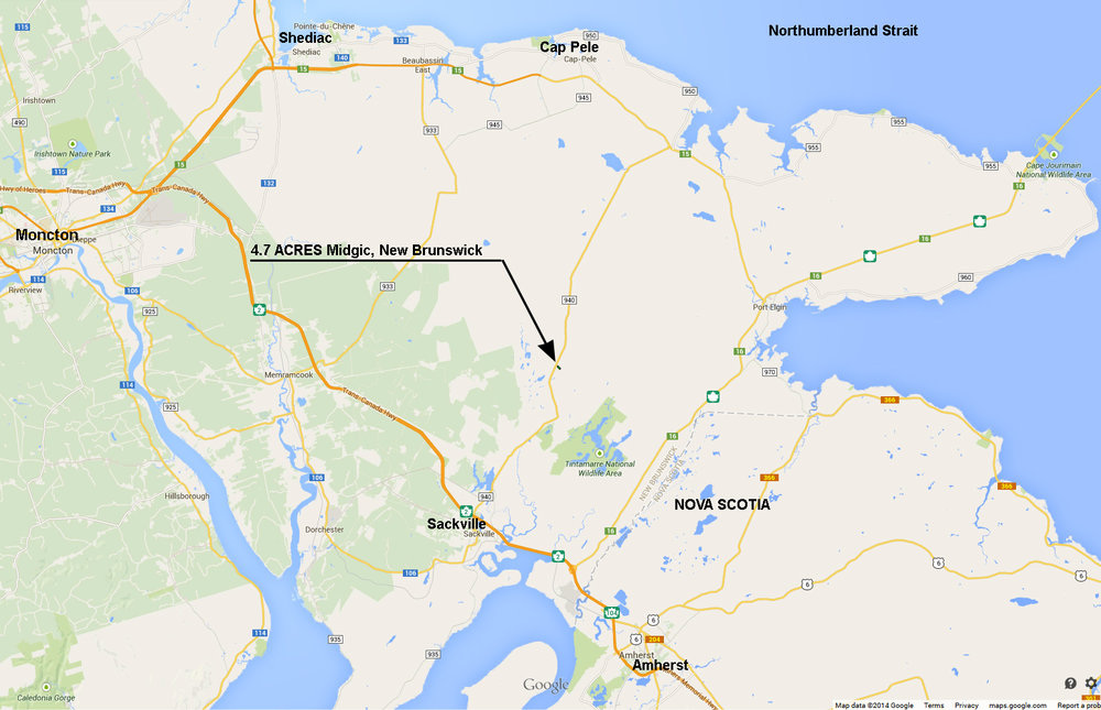 Map Of Southeast Canada.Canadian Land For Sale In Ontario Nova Scotia And New Brunswick